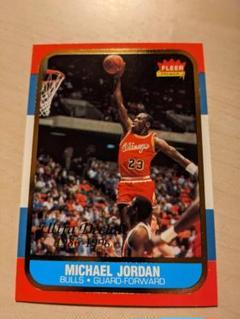 "Thumbnail of ""マイケルジョーダン ルーキーカード 復刻版 Fleer NBA"""