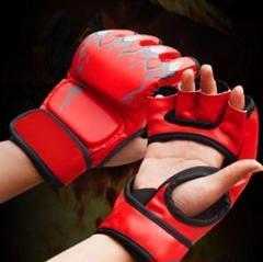"""Thumbnail of """"♪新品♪ ボクシンググローブ オープンフィンガー 格闘技 ムエタイ 空手 手袋"""""""