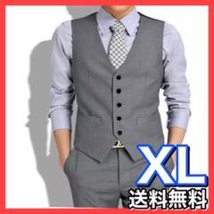 "Thumbnail of ""【高品質】スーツ ベスト メンズ フォーマル  XL グレー"""
