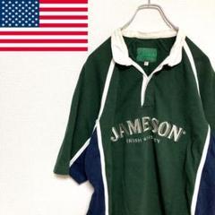 "Thumbnail of ""●JAMESON● アメリカ古着 刺繍 半袖 ラガーシャツ グリーン メンズ"""