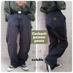 "Thumbnail of ""【大人気】Carhartt 革ロゴ ストレート ダック地 ペインターパンツ"""