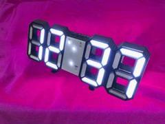 """Thumbnail of """"SNSで紹介されたそうです‼ --3D立体時計--黒ぶち白ライト"""""""