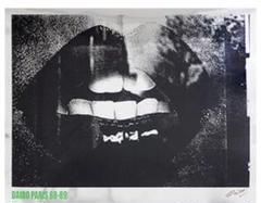 "Thumbnail of ""【希少・署名入り】森山大道  サイン入りアートポスター Lips"""