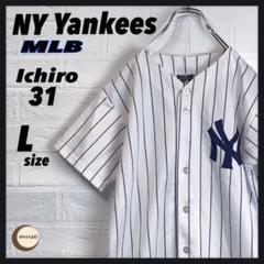 "Thumbnail of ""【フォロー割】NYヤンキース ゲームシャツ イチロー"""