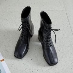 "Thumbnail of ""レディース 5cm 厚底 歩きやすい 厚底靴 ミドル ヒール"""