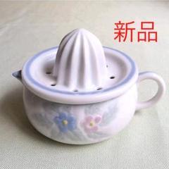 "Thumbnail of ""【新品】 レモン絞り ピッチャー セット  陶器製 花柄"""