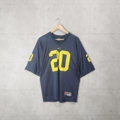 "Thumbnail of ""90s NIKE ナイキ アメフト ゲームシャツ ネイビー 20番 刺繍"""