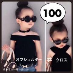 """Thumbnail of """"新品 トップス ノースリーブ 女の子 キッズ かっこいい 黒 ブラック 100"""""""