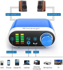 "Thumbnail of ""★未使用★ ミニアンプ ブルー 100W出力!! Bluetooth5.0 対応"""