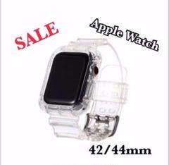 "Thumbnail of ""Apple Watch クリアバンド 透明 時計 一体型 シンプル  42/44"""