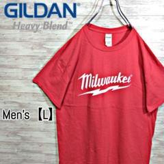 """Thumbnail of """"C242 GILDAN Tシャツ【メンズL】レッド 半袖 milwaukee"""""""