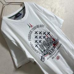 "Thumbnail of ""AERO NAUTICA 刺繍 ビッグデザイン メンズ Tシャツ ホワイト 半袖"""