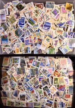 "Thumbnail of ""裏紙付使用済日本切手(ふるさと切手)大量400g以上(2000枚以上)"""