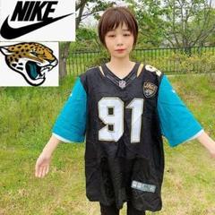 "Thumbnail of ""【NFL】ジャガーズ NIKE ゲームシャツ アメフト 91 ビッグサイズ 黒"""