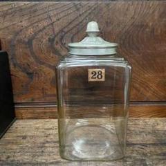 """Thumbnail of """"硝子瓶 レトロ 大きなガラス瓶 アンティーク 四角保存瓶 ストック"""""""