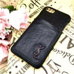 """Thumbnail of """"サンローラン iPhoneケース 7•8 ブラック レザー DV395"""""""