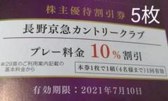 "Thumbnail of ""【長野京急カントリークラブ】割引券5枚"""