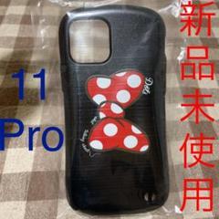 "Thumbnail of ""11 pro iPhoneケース りぼん 黒 ドット柄 かわいい プリント"""