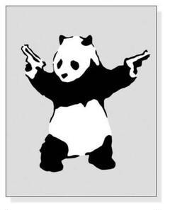 """Thumbnail of """"Panda with Guns(バンクシー)アートポスター"""""""