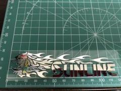 """Thumbnail of """"龍SUN 鏡面ミラーシルバー カッティングステッカー"""""""
