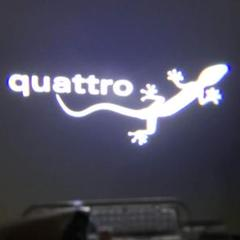 "Thumbnail of ""アウディ Audi Quattro LEDロゴカーテシライト  2個セット"""