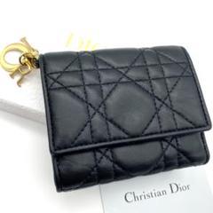 "Thumbnail of ""良品❤鑑定済!Christian Dior レディ ディオール 折り財布❤"""