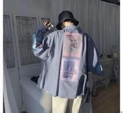 """Thumbnail of """"韓国ファッション★オーバーサイズ★プリントミリタリーシャツ グレー"""""""