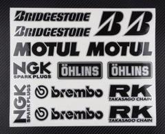 "Thumbnail of ""ブリジストン MOTUL NGK brembo OHLINS デカール M228"""