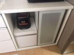 """Thumbnail of """"ニトリ キッチンカウンター リーフ80CT ホワイト"""""""