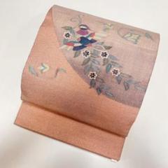 """Thumbnail of """"【なでしこ】正絹 袋帯 ポイント柄 ピンク ラメ地 o478"""""""