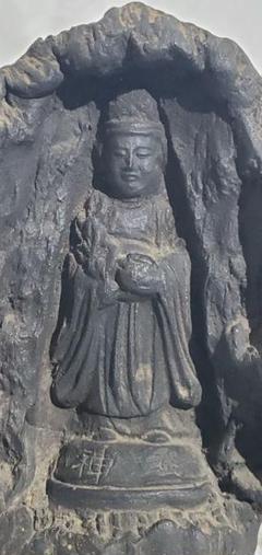 "Thumbnail of ""時代物 陶器製の古い仏像(霊神) 仏教美術 骨董品、美術品"""