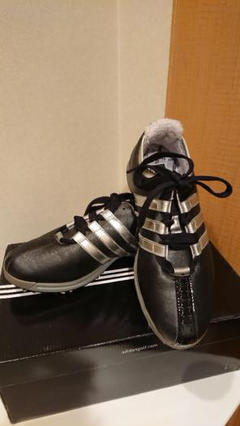 "Thumbnail of ""【美品】adidasGolf ゴルフシューズ 黒×シルバー fitFOAM"""