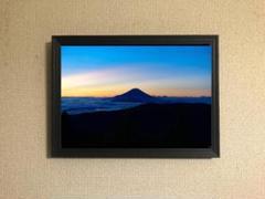 "Thumbnail of ""036 夕暮れの富士山 キャンバスアート【A4サイズフレーム付】"""