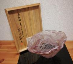 "Thumbnail of ""岩田藤七作 嘉祥鉢 共箱 略歴付 花瓶"""
