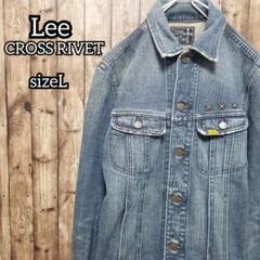 "Thumbnail of ""Lee リー CROSS RIVET♥️デニムジャケット【L】メンズ Gジャン"""