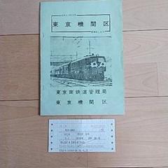 国鉄東京機関区資料と寝台特急券