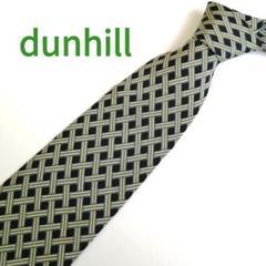 """Thumbnail of """"【イタリア製】dunhill(ダンヒル) メンズネクタイ ブラック 黄緑 格子柄"""""""
