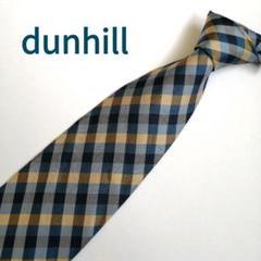 "Thumbnail of ""【イギリス製】dunhill(ダンヒル) メンズネクタイ 水色 黒 チェック柄"""