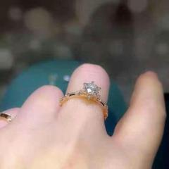 "Thumbnail of ""『品質重視』人気新品18 kローズゴールドのダイヤモンドリング 指輪23"""