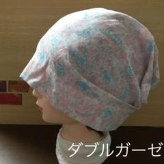 "Thumbnail of ""ケアキャップ バンダナキャップ風 三角巾代わりに 花柄"""