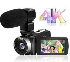 "Thumbnail of ""ビデオカメラ 4K YouTube 4800万画素 外付けマイク IR夜視機能"""