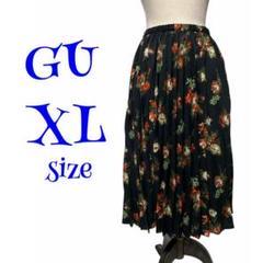 "Thumbnail of ""GU ロングスカート プリーツスカート ブラック 花柄♡かわいいデザイン♡XL"""