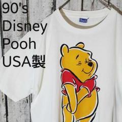 "Thumbnail of ""90's USA製 Disney Pooh プーさん ビッグプリントTシャツXL"""