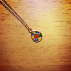 "Thumbnail of ""the stainedglass pinkgoldnecklace"""