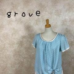 """Thumbnail of """"GROVE グローブ チュニック サイズM 装飾 水玉 ブルー 青 ワールド"""""""