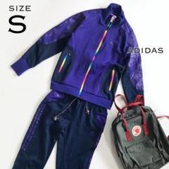 "Thumbnail of ""adidas アディダス ジャージ上下 レディースS 90S派手デザイン 紫"""