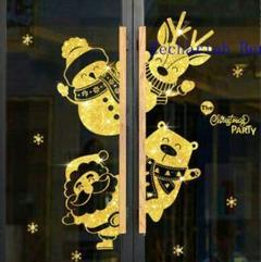 "Thumbnail of ""nクリスマスのガラス戸の装飾品の商店は祝日の用品のクリスマスの花輪を押しますs"""