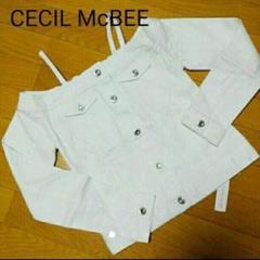 """Thumbnail of """"【新品タグ付き未着用】CECIL McBEE ホワイトデニムトップス"""""""
