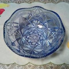 "Thumbnail of ""【サマーセール&週末値下げ】昭和レトロな ブルーのガラス鉢  そうめん鉢?"""