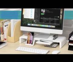 """Thumbnail of """"PCやモニター周りのデッドスペースを有効活用♪❤️高耐荷重25kg‼️モニター台"""""""